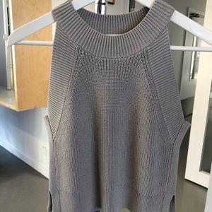 Aritzia Wilfred Crevier knit top in grey size XXS